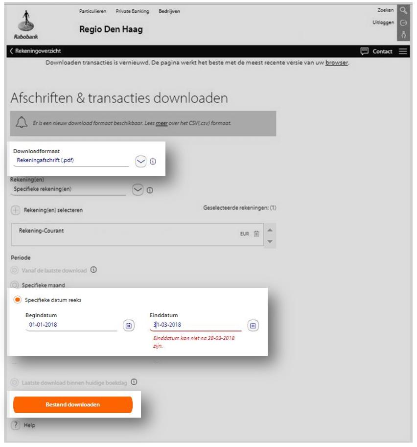 Pobież wyciąg elektroninczny PDF z Rabobank